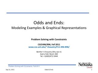 Odds and Ends: Modeling Examples & Graphical Representations
