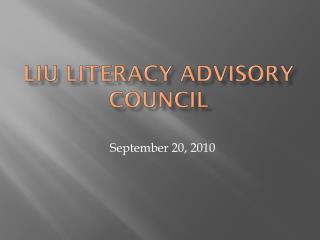 LIU Literacy Advisory Council