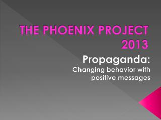 THE PHOENIX PROJECT 2013