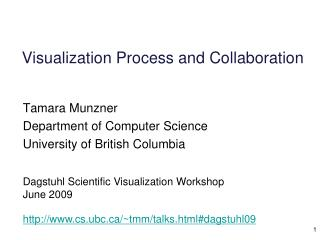 Visualization Process and Collaboration