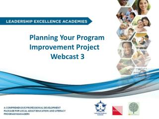 Planning  Your Program  Improvement  Project Webcast 3