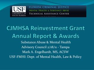 CJMHSA Reinvestment Grant Annual Report & Awards