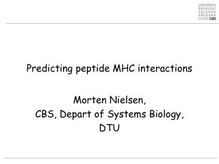 Predicting peptide  MHC  interactions