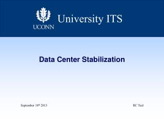 Data Center  Stabilization