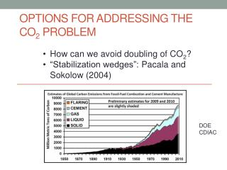 Options for addressing the CO 2  problem