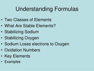 Understanding Formulas