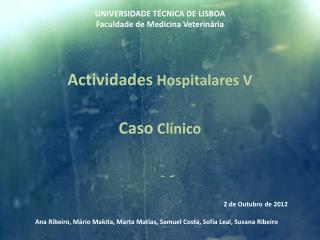 UNIVERSIDADE TÉCNICA DE LISBOA Faculdade de Medicina Veterinária