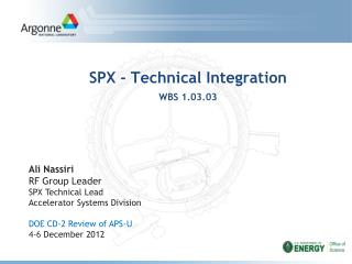SPX - Technical Integration WBS 1.03.03