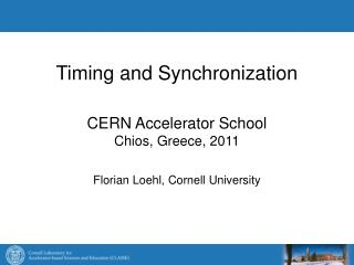 Timing and Synchronization