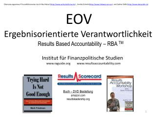 EOV Ergebnisorientierte Verantwortlichkeit