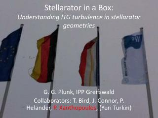 Stellarator  in a Box: Understanding ITG turbulence in  stellarator  geometries