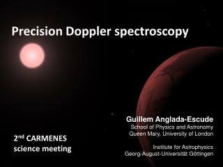 Precision Doppler spectroscopy