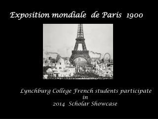 Exposition  mondiale   de  Paris   1900
