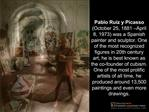 Martian Chronicles: Picasso Short Answer Prompt