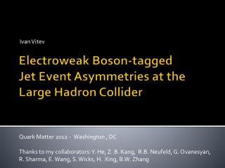 Electroweak  Boson -tagged  Jet  E vent  A symmetries  at the Large Hadron Collider