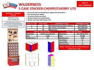WILDERNESS 5 CASE STACKER:CHERRY/CHERRY LITE