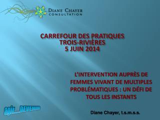 CARREFOUR DES PRATIQUES TROIS-RIVIÈRES 5 JUIN 2014