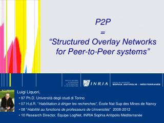 "P2P  = ""Structured Overlay Networks for Peer-to-Peer systems"""