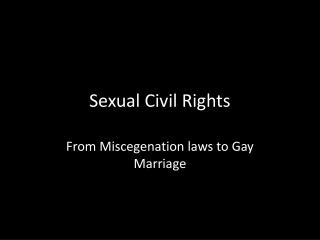 Sexual Civil Rights