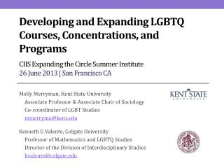Developing and Expanding LGBTQ Courses, Concentrations, and Programs