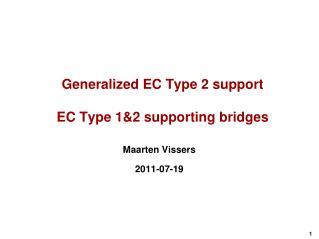 Generalized EC Type 2 support EC  Type 1&2 supporting  bridges