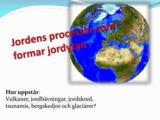 Jordens processer som formar jordytan