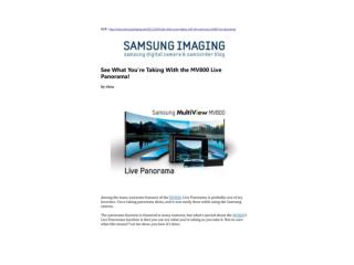 See What You�re Taking With the MV800 Live Panorama!(SAMSUNG