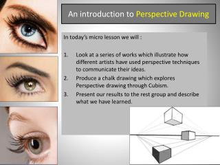 An introduction to  Perspective Drawing