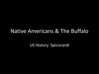 Native Americans & The Buffalo
