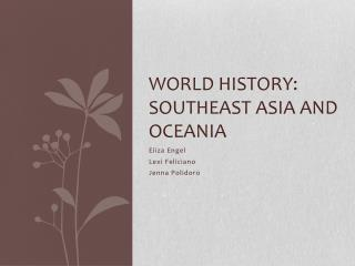 World History: Southeast Asia and Oceania