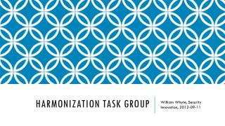 Harmonization Task Group