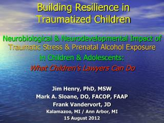 Building Resilience in  Traumatized Children