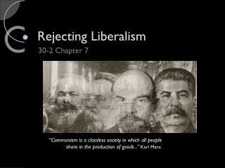 Rejecting Liberalism