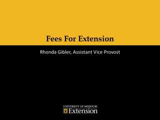 Fees For Extension