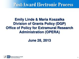 Post-Award Electronic Process