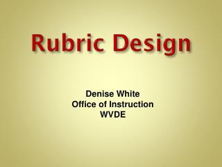 Rubric Design