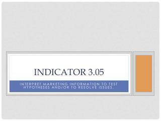 Indicator 3.05