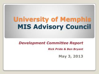 University of Memphis MIS Advisory Council