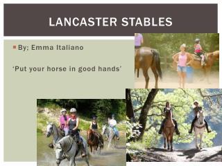 Lancaster Stables