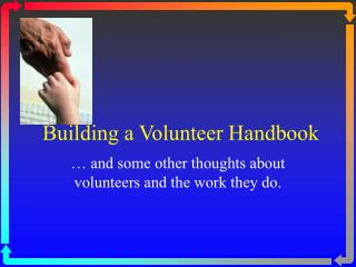 Building a Volunteer Handbook