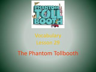 Vocabulary Lesson 29