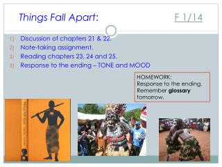 Things Fall Apart : F 1/14