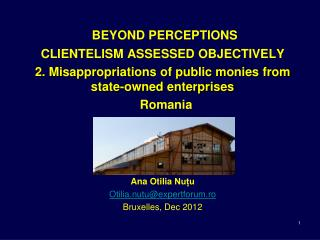 BEYOND PERCEPTIONS CLIENTELISM ASSESSED OBJECTIVELY