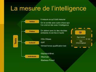 La mesure de l�intelligence