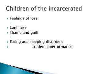 Children of the incarcerated