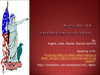 Rights of American Citizens