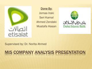 MIS Company Analysis Presentation