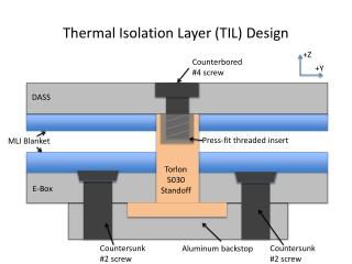 Thermal Isolation Layer (TIL) Design