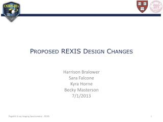 Proposed REXIS Design Changes