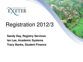 Registration  2012/3